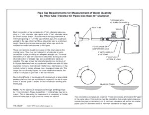 "Pipe Tap Requirements (up to 48"" diameter)"