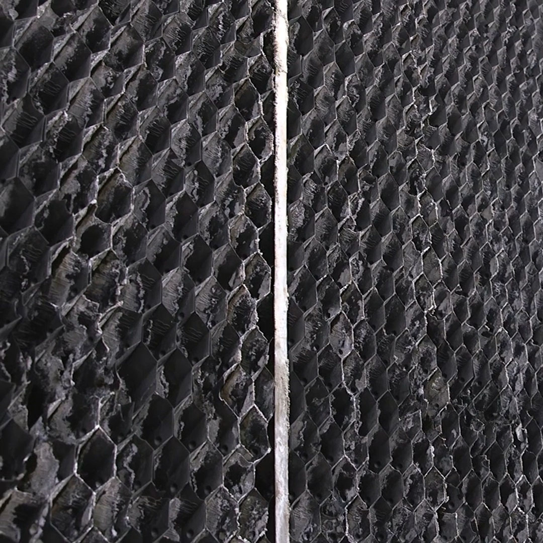 When inspecting fill, look for sagging, broken or decaying splash bars or excessive buildup of scale.