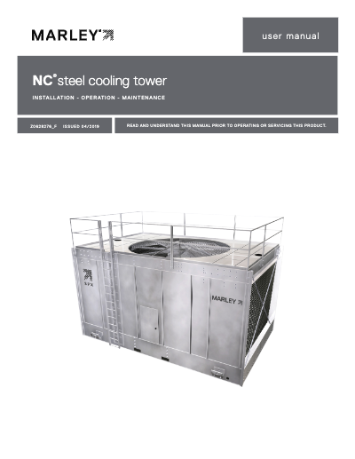 Marley NC Steel Cooling Tower User Manual