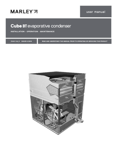 Cube BT Evaporative Condenser IOM User Manual