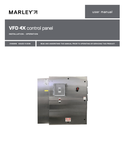 VFD 4X control panel User Manual