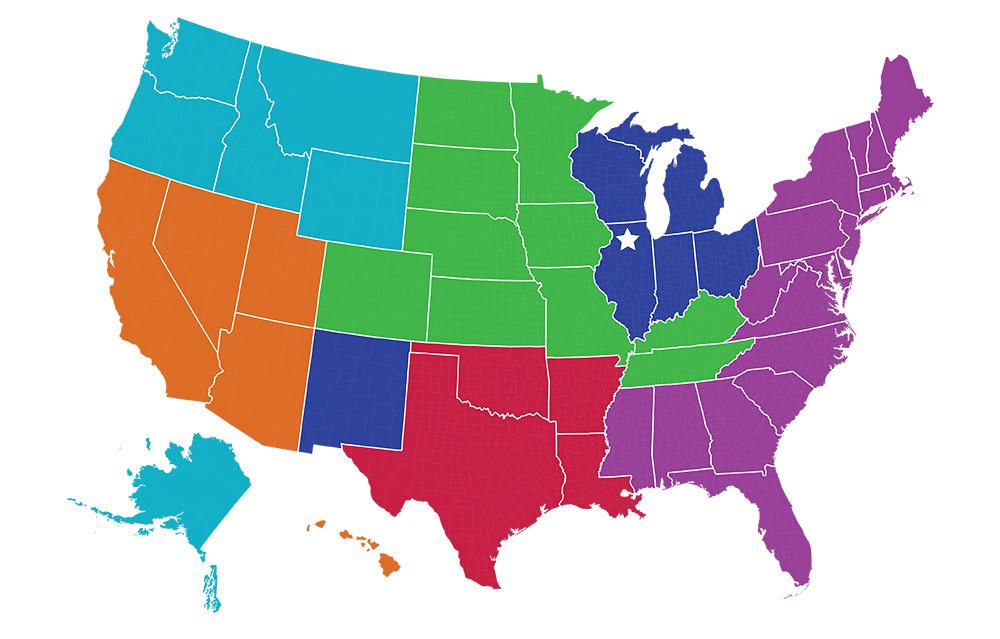 SGS Refrigeration Sales Map